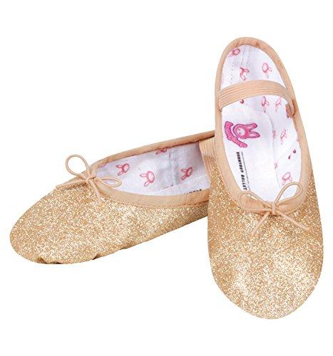 Bloch Dance Girls' Glitterdust Dance Shoe, Rose, 6.5 C US (Bloch Glitter Shoes)