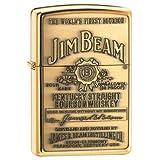 Zippo Lighter - Jim Beam Brass Emblem High Polish Brass