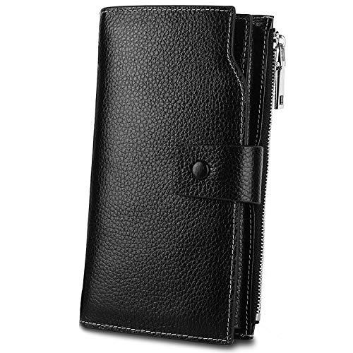 Ladies Black Checkbook Wallet - 5