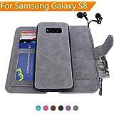 Samsung Galaxy S8 Case, [Detachable Wallet Folio][2 in 1][Zipper Cash Storage][Up to 14 Card Slots 1 Photo Window…