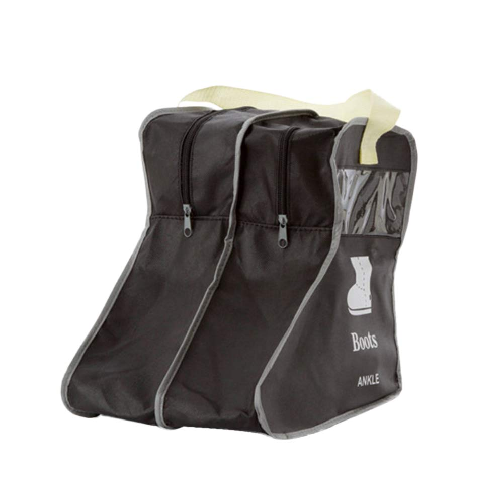 Botas de Viaje Bolsa de Almacenamiento Botas de Tela no Tejidas Bolsa de protección del Polvo Bolsa Debajo de la Cama Organizador de Armario para Botas de Vaquero Botas de Nieve - Talla S (Negro)