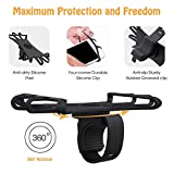 VUP Silicone Bike Phone Mount for iPhone X/ 8 Plus/ 8/ 7 Plus, Galaxy S8 Plus, Nexus, Nokia, LG, Universal Bicycle Motorcycle Handlebars Adjustable Cell Phone Holder, 360° Rotation