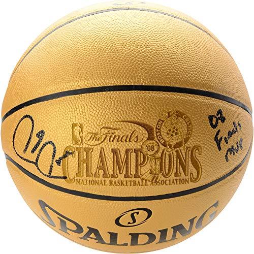 86ec04d8126 Paul Pierce Boston Celtics Autographed Spalding Gold 2008 NBA Champions  Indoor/Outdoor Basketball with
