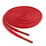 OrthoStep Round Athletic Red 54 inch Shoelaces 2 Pair Pack