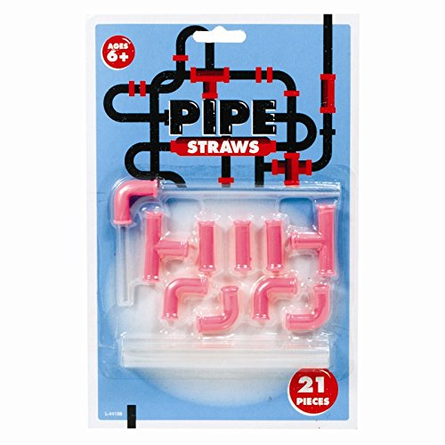 Straw Connectors Bendy Party Straws DIY Plastic Pipe Reusable Drinking Game (1X Straw Connector Set) ITP L-44198-SW
