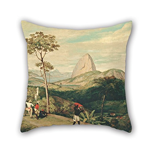 Bestseason 16 X 16 Inches / 40 By 40 Cm Oil Painting Charles Landseer - View Of Sugarloaf Mountain From The Silvestre Road Pillow Cases,two Sides Is Fit For Couch,indoor,birthday,festival,teens - Kids Sugarloaf