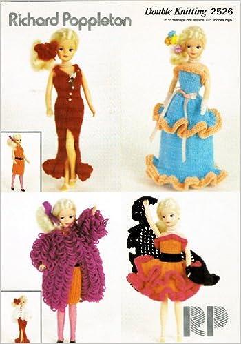 Richard Poppleton Knitting Pattern 2526 Dolls Clothes For Standard