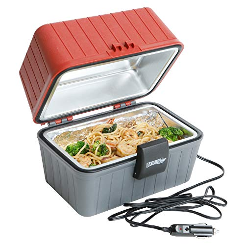 Batpug Portable Food Warmer 12 Volt - with Built in LED Light and Limited 12 Month Warranty