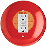 Rikki Knight RND-GFISINGLE-95 Fire Alarm Round Single GFI Light Switch Plate