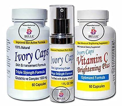 Ivory Caps sistema 1 (sistema básico) cápsulas de aligeramiento de blanquear la piel la