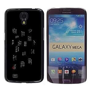CASEX Cases / Samsung Galaxy Mega 6.3 I9200 SGH-i527 / Popular Slogans # / Delgado Negro Plástico caso cubierta Shell Armor Funda Case Cover Slim Armor Defender