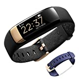 Siroflo Fitness Tracker, IP67 Waterproof Health Activity Tracker with Heart Rate Sleep Monitor Female Physiological Cycle Tips, Wireless Smart Bracelet for Kids, Women and Men (Black)