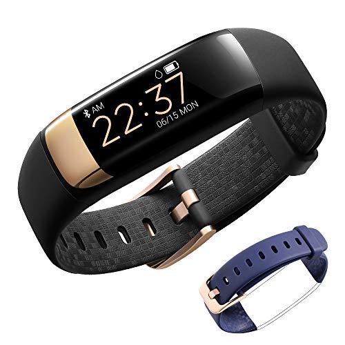 Siroflo Fitness Tracker HR, IP67 Waterproof Health Activity Tracker Smart Watch with Female Physiological Reminder, Smart Bracelet for Running/Walking/Sleeping/Kids/ Men/Women (Black)