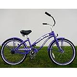 Kidwise Kids Bikes Purple Ladies Beach Cruiser 24 inch Deluxe