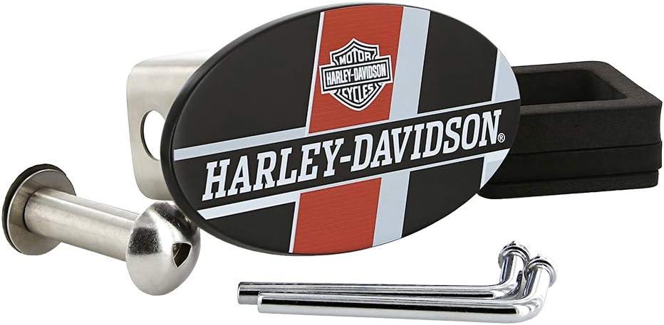 Harley-Davidson Wordmark UV Printed Black Coated Finish Metal Hitch Cover