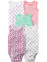 Baby Girls' 5 Pack Bodysuits (Baby) - Navy