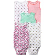 Carter's Baby Girls' 5 Pack Floral Bodysuits 6 Months