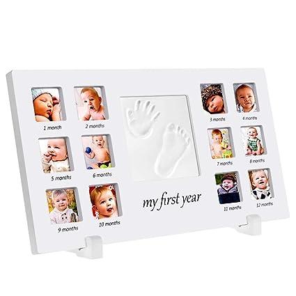 Kit de huella de bebé Bebé Handprint y huella Marco de fotos Kit de ...