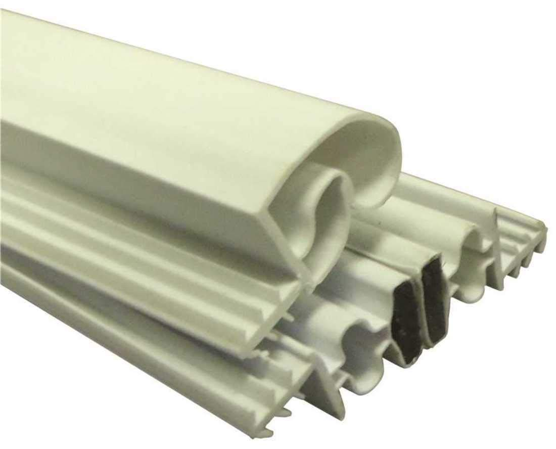 Strybuc Industries 900-9000S-25 Magnetic Weatherstrip Set, White, 84'' x 36'' x 84'', Plastic, 83'' x 0.8'' x 3.5'' by Strybuc Industries