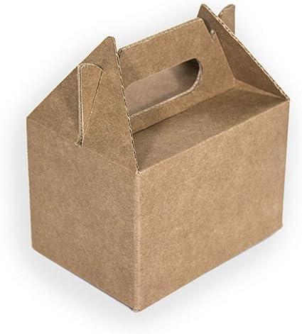 Kartox | Caja Picnic Mini de Cartón Kraft | Caja para Fiestas ...