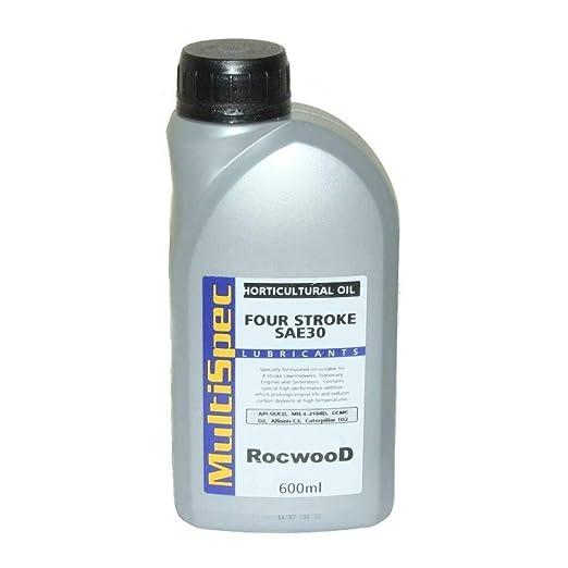 SAE30 - Aceite de Motor de 4 Tiempos (600 ml, Apto para ...