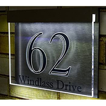 address plaque for vinyl siding house number signs wood this item led light acrylic designer vertical