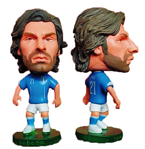 New Design Champian 2014 FIFA World Cup Italy Football Team 21# ANDREA PIRLO Soccer Player Doll Mini Star Cartoon Model (Cartoon Star Dolls)