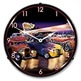 Burger Bob's Hotrod Diner Lighted Clock For Sale