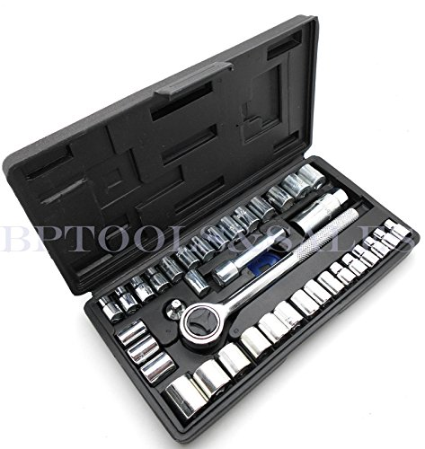 Piece 40 Socket Tool (40-Piece Socket Tool Set Ratchet Set METRIC/SAE 1/4