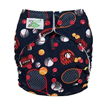 Amazon.com : Tiny Tush Elite Pocket Diaper 2.0 Snap Closure (All Star) : Baby