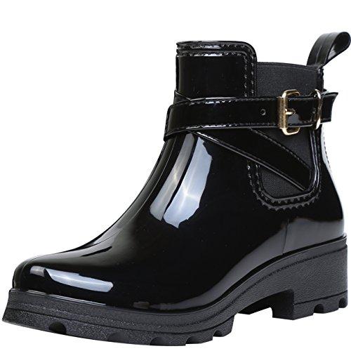 Imperm Bottine Pluie Bottes De Bottines Boots Chelsea Cheville Bloc Rainboots z76zX