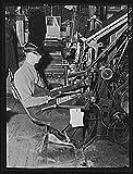 1939 Photo Linotype operator. Litchfield Independent, Litchfield, Minnesota Location: Litchfield, Meeker County, Minnesota