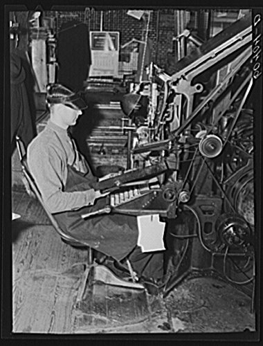 1939 Photo Linotype operator. Litchfield Independent, Litchfield, Minnesota Location: Litchfield, Meeker County, Minnesota by Historic Photos