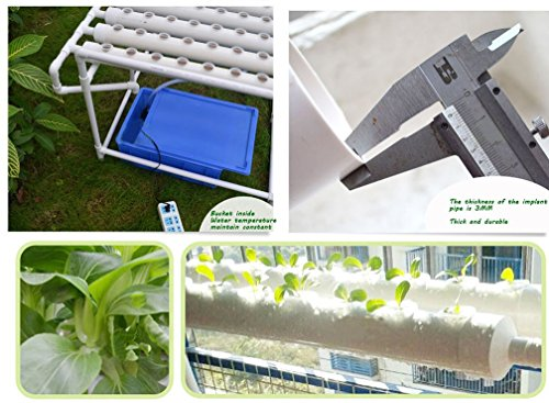 51fuNgR33bL - Hydroponic Site Grow Kit 72 Site Ebb and Flow Deep Water Culture Garden System with Nest Basket, Water Pump and Sponge(Item#141053)