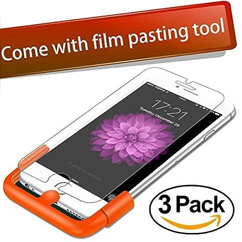 [3 Pack] iPhone 8 Plus / 7 Plus Screen Protector, Foxnovo 5.5