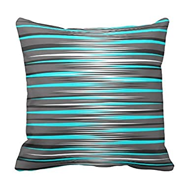 Teal, Grey, White, Black Stripes pillowcase Pillow shams case Cushion Cover 2020