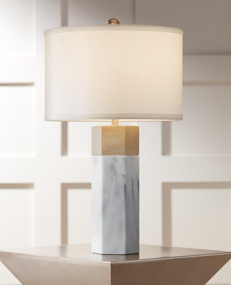 copycatchic hero pillar elm marble west table lamp