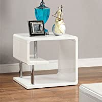 247SHOPATHOME Idf-4057E End-Tables, White