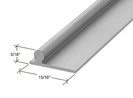 CRL PLD1654 Aluminum 6; Glass Door Replacement Rails