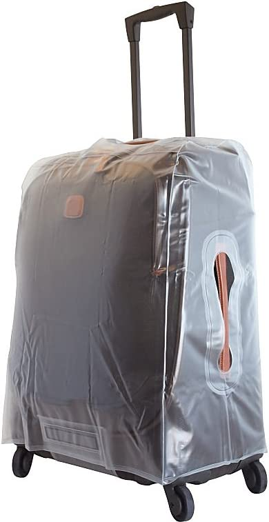 transparent cover BRK//BRE 21 spinner COVER/_CAPRI//RICCIONE TRANSPARENT Color Brics USA Luggage Model Size