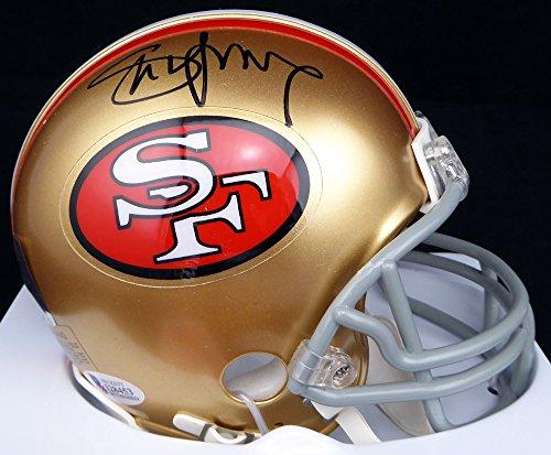 Steve Young Hand Signed (Steve Young Hand Signed Autographed San Francisco 49ers Mini Helmet - Beckett COA)