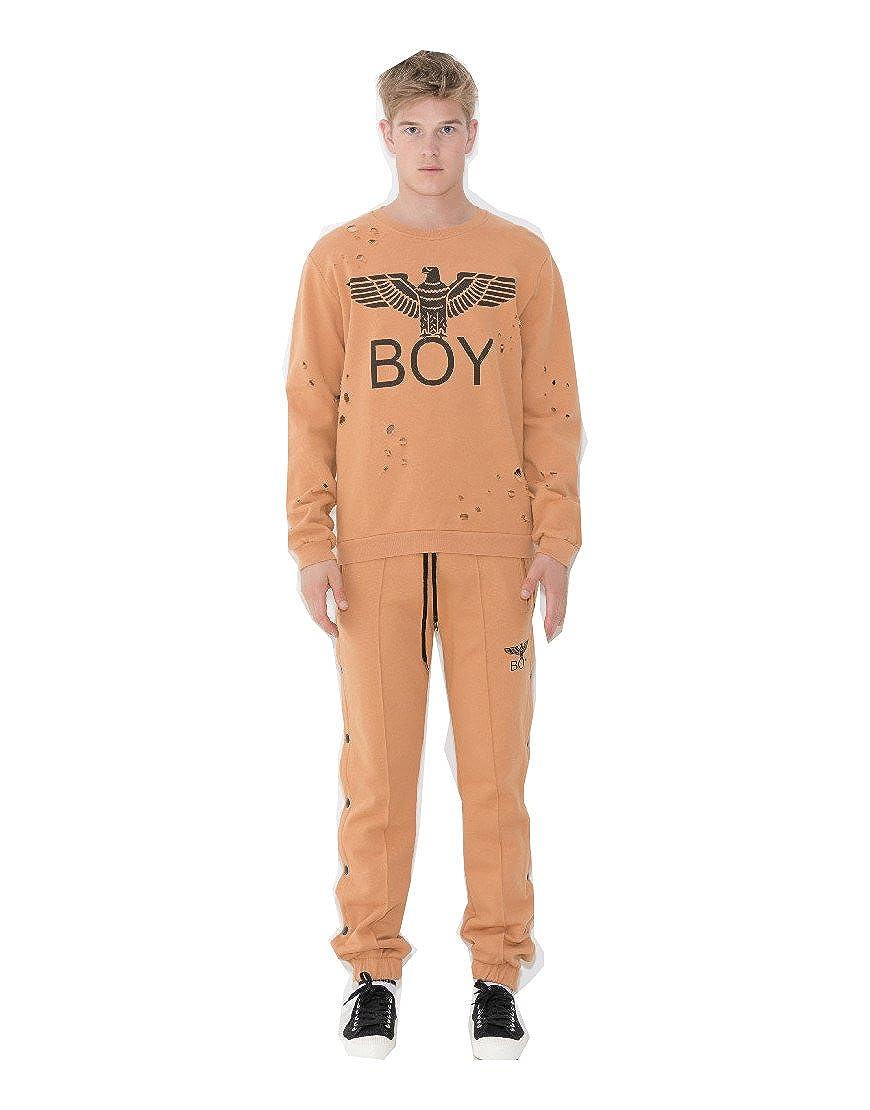 Flepa Boy London Camello Logo Frontale Unisex Herren Sweatshirt