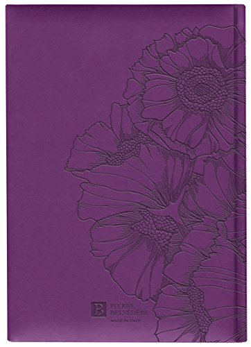 Pierre Belvedere Parfum Collection Large Hardcover Notebook with Padded Embossed Cover, Purple (7706250) Photo #2