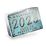 Floating Charm Vintage Year 2026, Born/Made Fits Glass Lockets, Neonblond