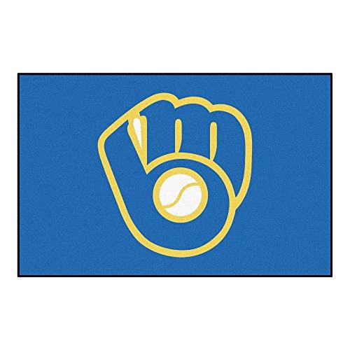 MLB Milwaukee Brewers Starter Mat Rectangular Area Rug