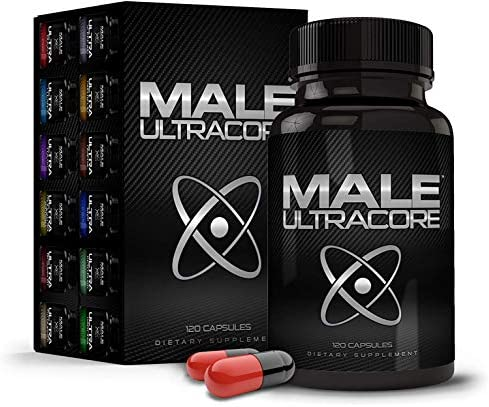 Male UltraCore Supplements 1 Month Supply High Potency – Ultimate Endurance, Drive Strength Booster 120 caps per Bottle