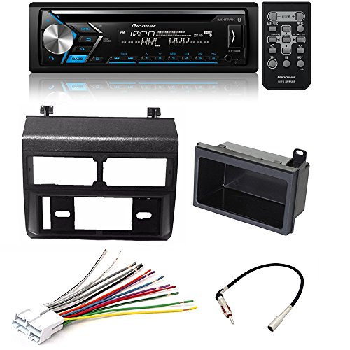 Pioneer DEH-S4000BT CD MP3 USB Bluetooth 13 Band EQ CAR Stereo SPOTIFY Car Stereo Radio Blue Dash Kit Antenna Harness for Chevy GMC Trucks ()