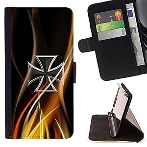 For Samsung Galaxy S6 Case , Resumen de la cruz céltica- la tarjeta de Crédito Slots PU Funda de cuero Monedero caso cubierta de piel