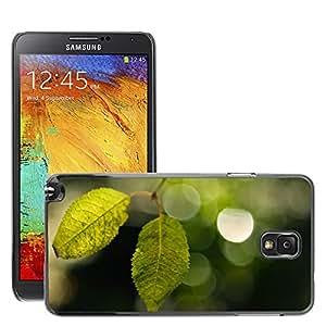 Super Stellar Slim PC Hard Case Cover Skin Armor Shell Protection // M00051032 bokeh two aero leaves // Samsung Galaxy NOTE 3