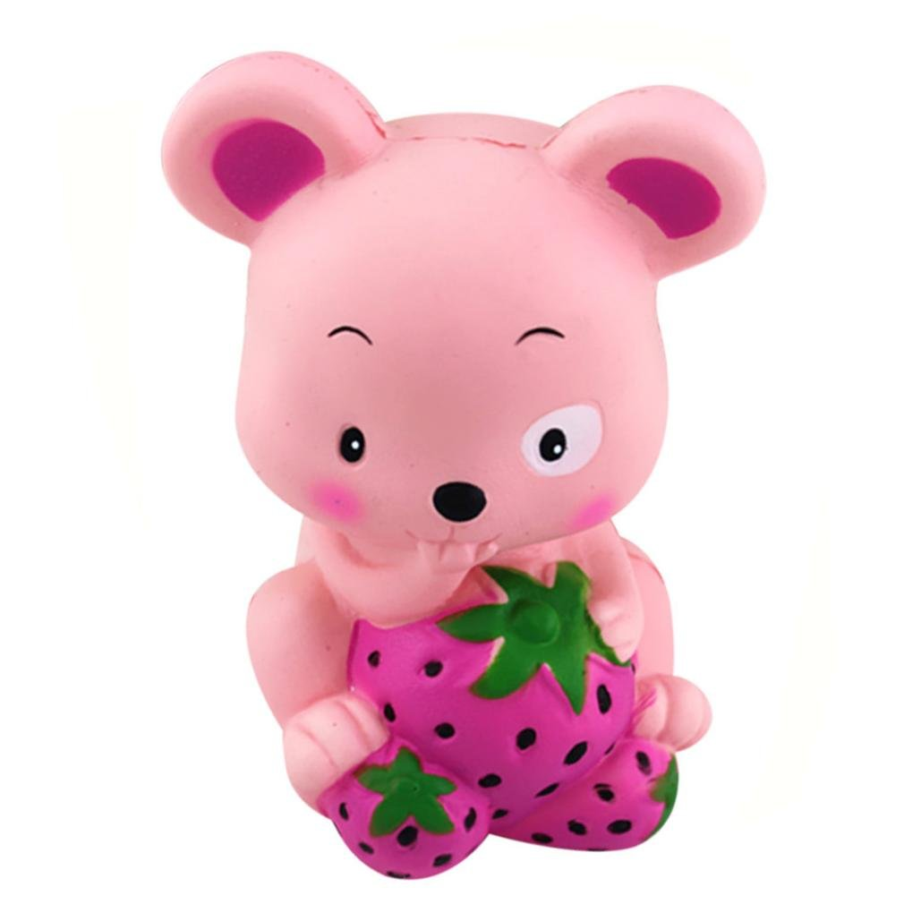 CSSD Squishy {Hamster/Panda Burger/Strawberry Mouse/Jumbo Strawberry Cake/Cartoon Big Eye Bear/Moon Unicorn/Cute Panda Cake} {Slow Rising} {Stress Reliever} Fun Squeezable Healing Gifts To (E)